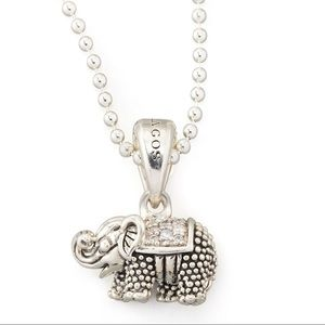 Lagos Diamond Elephant Pendant Necklace